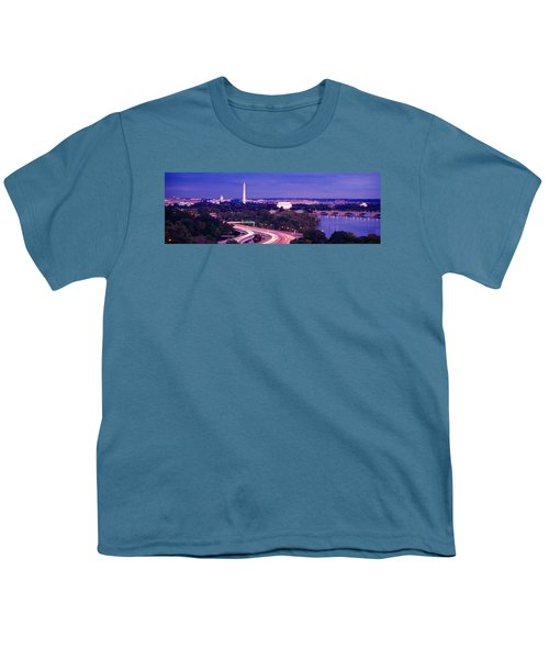 High Angle View Of A Cityscape Youth T-Shirt