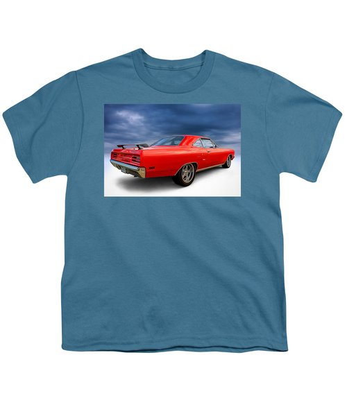 '70 Roadrunner Youth T-Shirt by Douglas Pittman