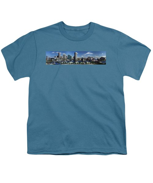 Baltimore Inner Harbor Panorama Youth T-Shirt