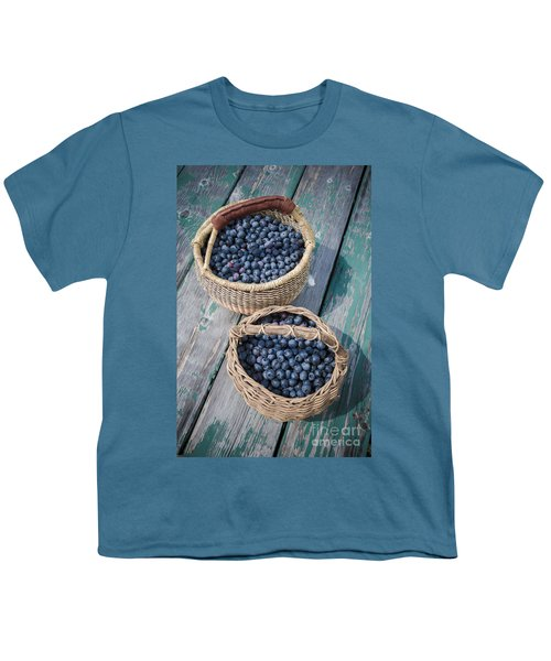 Blueberry Baskets Youth T-Shirt by Edward Fielding