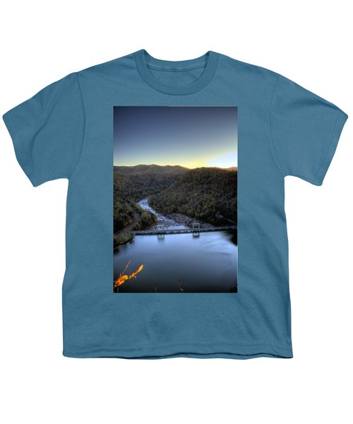 Youth T-Shirt featuring the photograph Dam Across The River by Jonny D