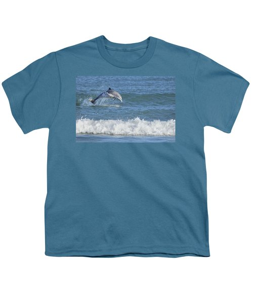 Dolphin In Surf Youth T-Shirt