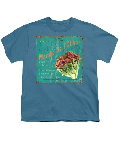 French Market Sign 3 Youth T-Shirt by Debbie DeWitt
