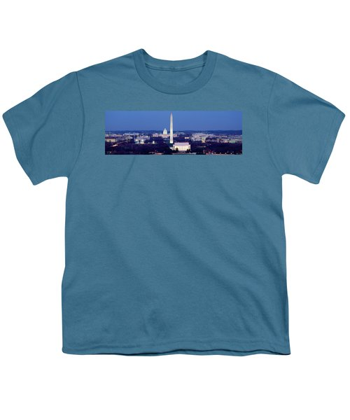 High Angle View Of A City, Washington Youth T-Shirt by Panoramic Images