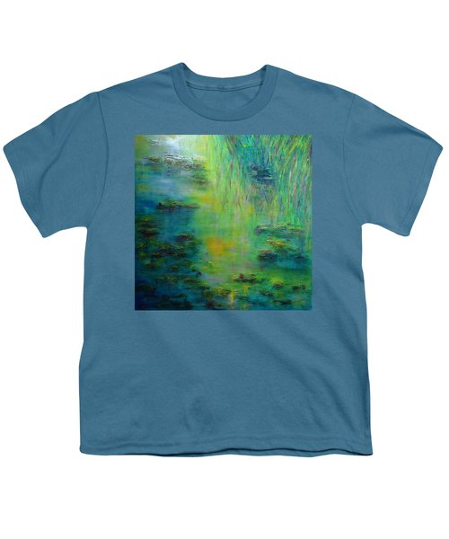 Lily Pond Tribute To Monet Youth T-Shirt