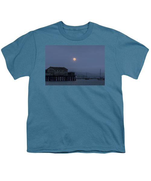 Moonrise Over The Harbor Youth T-Shirt