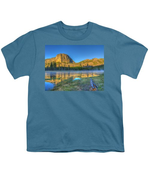 Mt. Hayes Alpine Glow Yellowstone National Park Youth T-Shirt