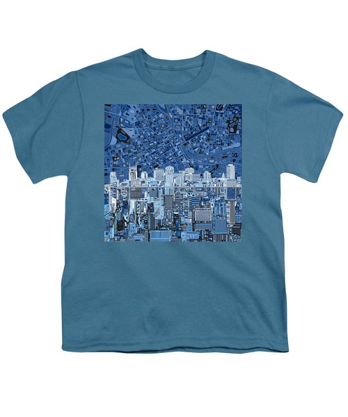Nashville Skyline Abstract Youth T-Shirt