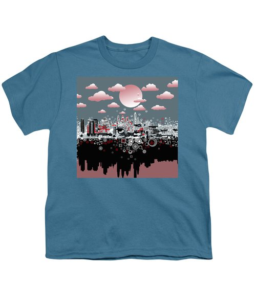Philadelphia Skyline Abstract 6 Youth T-Shirt
