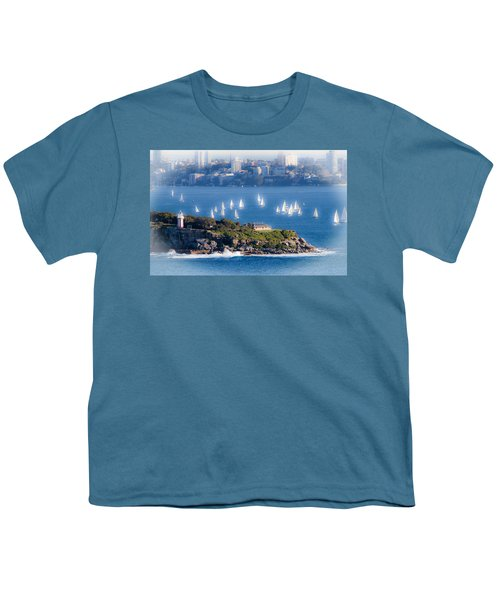 Youth T-Shirt featuring the photograph Sails Out To Play by Miroslava Jurcik