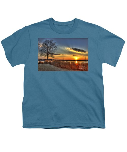 Sunset Sawgrass On Lake Oconee Youth T-Shirt by Reid Callaway