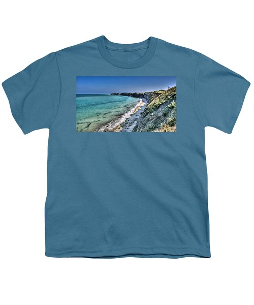 The Cliffs Of Pointe Du Hoc Youth T-Shirt
