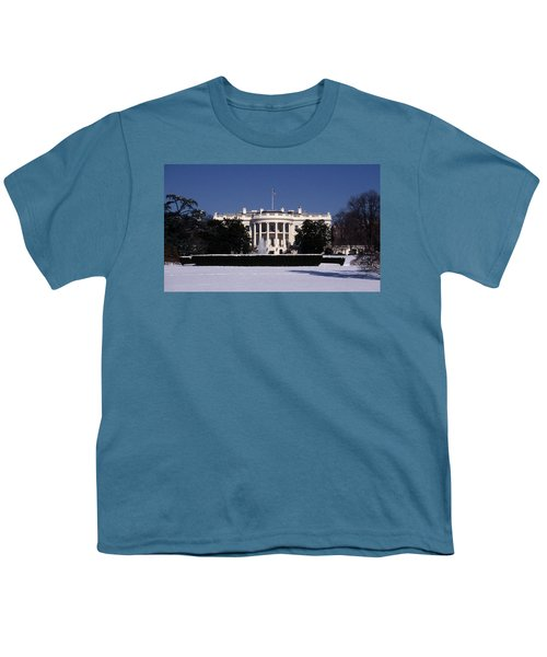 Winter White House  Youth T-Shirt by Skip Willits