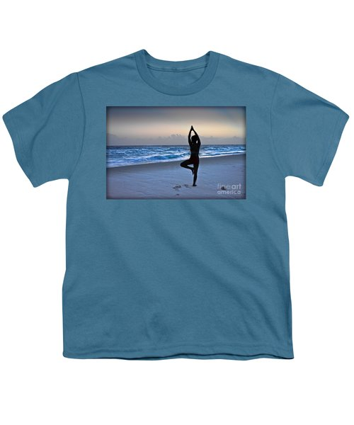 Youth T-Shirt featuring the photograph Yoga Posing  by Gary Keesler