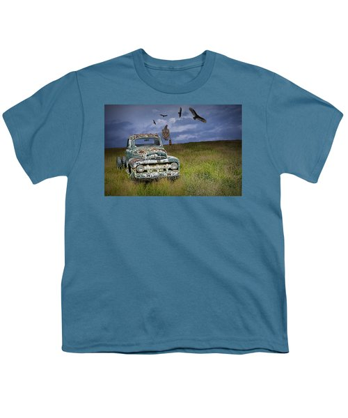 Vultures And The Abandoned Truck Youth T-Shirt