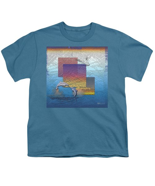 Blue Lagoon Sunrise  Youth T-Shirt by Serge Averbukh