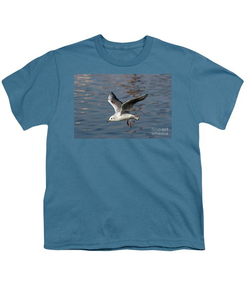 Flying Gull Youth T-Shirt by Michal Boubin