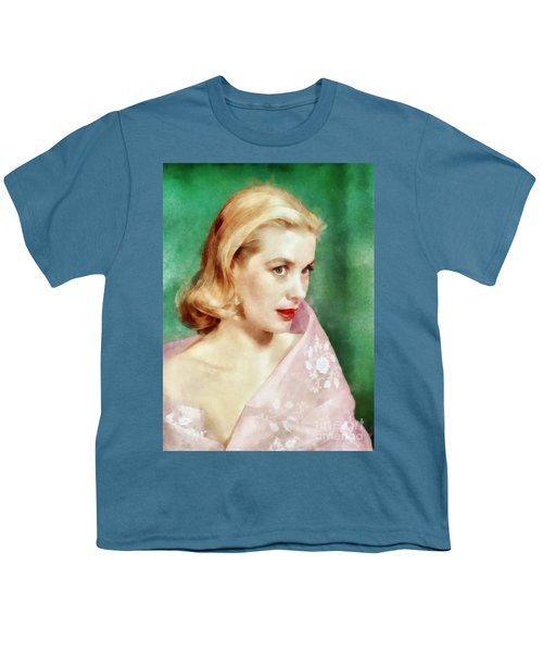 Grace Kelly By John Springfield Youth T-Shirt
