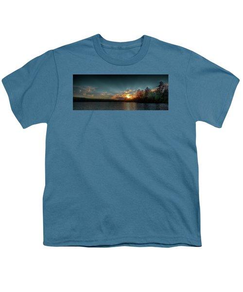 June Sunset On Nicks Lake Youth T-Shirt by David Patterson