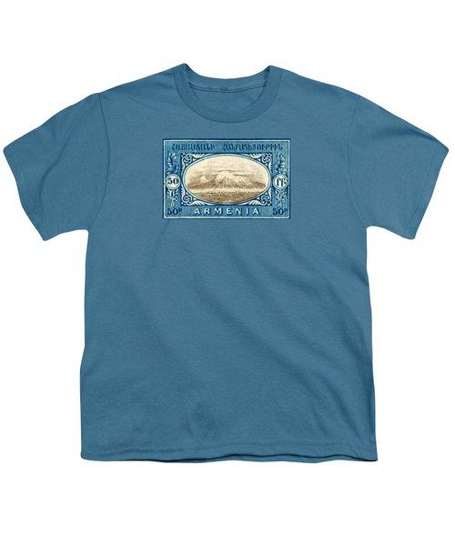 1920 Armenian Mount Ararat Stamp Youth T-Shirt
