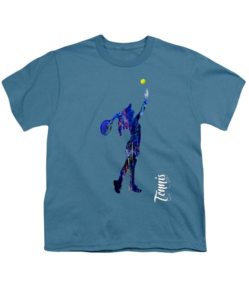 Womens Tennis Collection Youth T-Shirt by Marvin Blaine