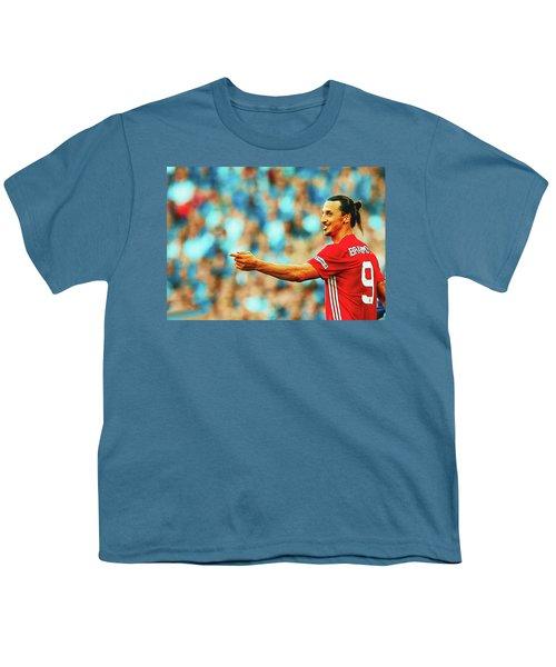 Manchester United's Zlatan Ibrahimovic Celebrates Youth T-Shirt