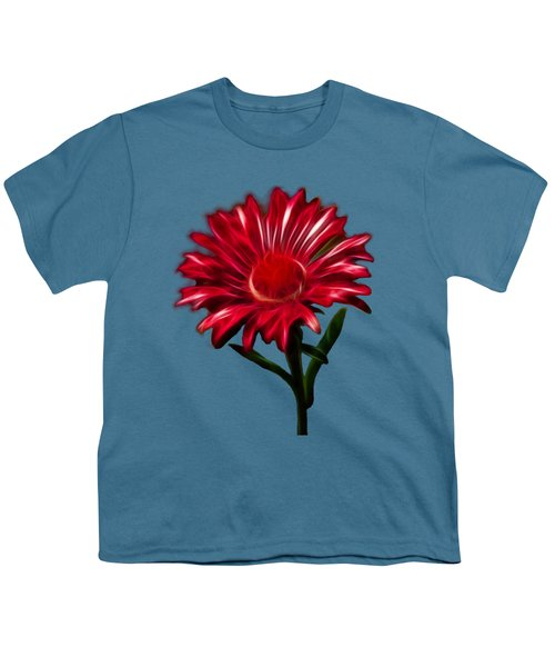 Red Daisy Youth T-Shirt by Shane Bechler