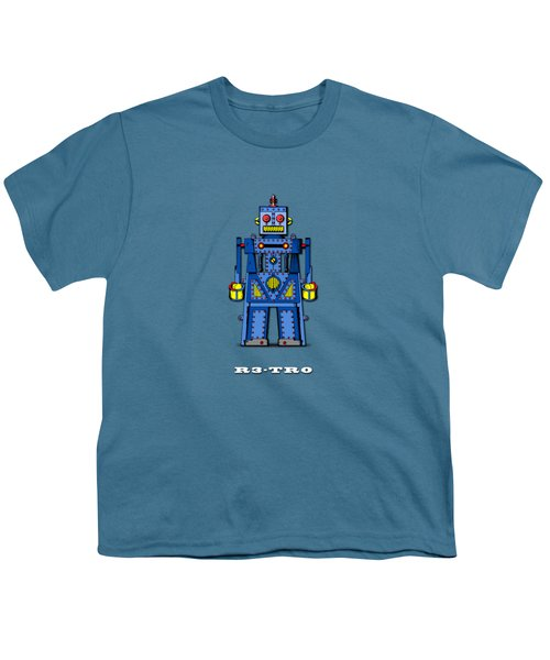 R3 Tr0 Robot Youth T-Shirt by Mark Rogan