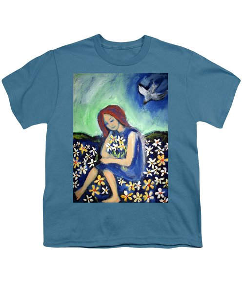 Youth T-Shirt featuring the painting At Peace by Winsome Gunning