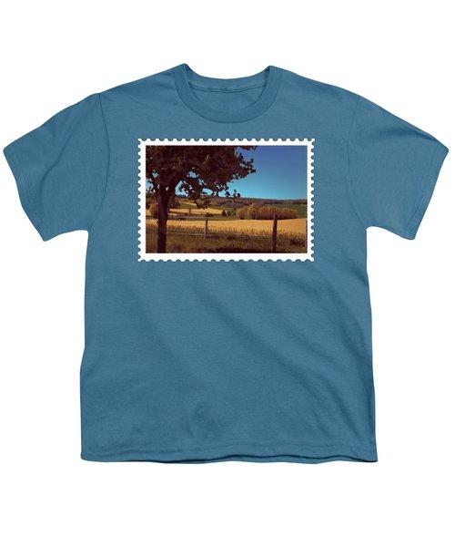 Autumn Harvest Wheat Field Youth T-Shirt