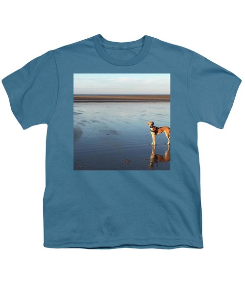Ava's Last Walk On Brancaster Beach Youth T-Shirt by John Edwards
