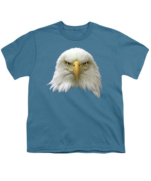 Bald Eagle Youth T-Shirt by Shane Bechler