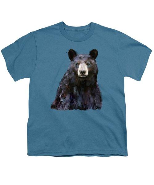 Black Bear Youth T-Shirt by Amy Hamilton