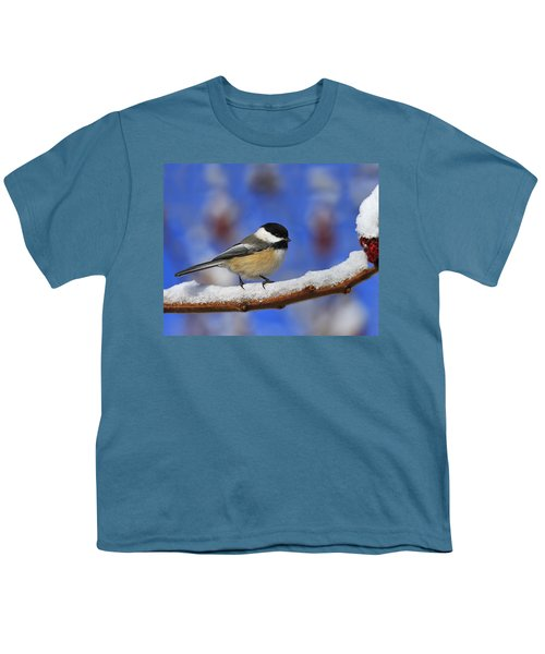Black-capped Chickadee In Sumac Youth T-Shirt