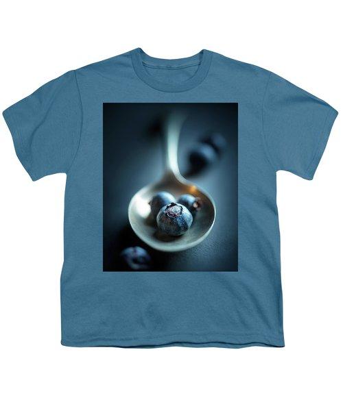 Blueberries Macro Still Life Youth T-Shirt