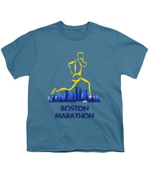 Boston Marathon5 Youth T-Shirt by Joe Hamilton