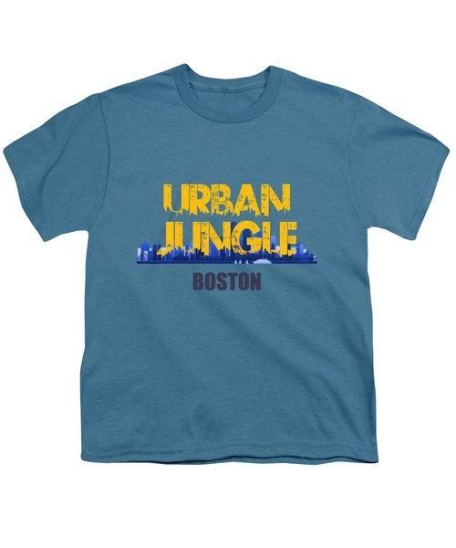 Boston Urban Jungle Shirt Youth T-Shirt by Joe Hamilton