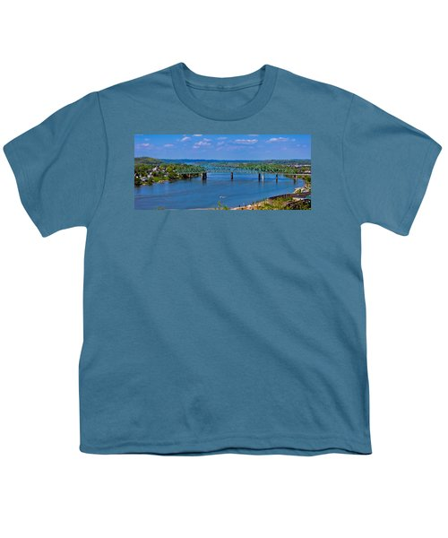Bridge On The Ohio River Youth T-Shirt