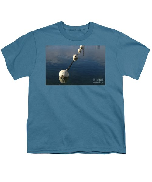 Youth T-Shirt featuring the photograph Buoys In Aligtnment by Stephen Mitchell