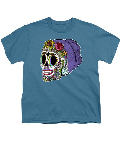 Catrina Sugar Skull Youth T-Shirt
