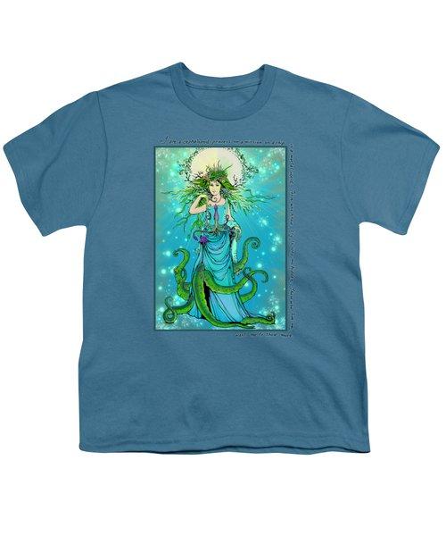 Cephalopod Princess Youth T-Shirt by Katherine Nutt