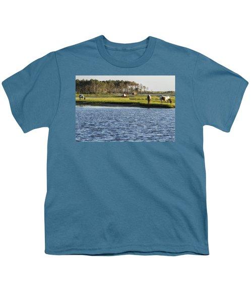 Chincoteague Ponies On Assateague Island Youth T-Shirt