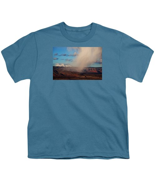 Christmas Day Snow Mix San Francisco Peaks Youth T-Shirt