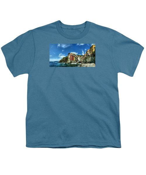 Cinque Terre - View Of Riomaggiore Youth T-Shirt