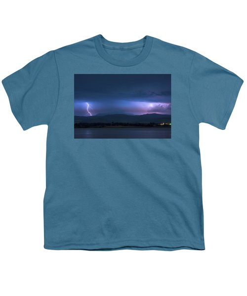 Youth T-Shirt featuring the photograph Colorado Rocky Mountain Foothills Storm by James BO Insogna