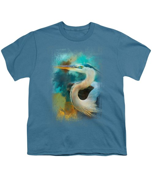 Colorful Expressions Heron Youth T-Shirt