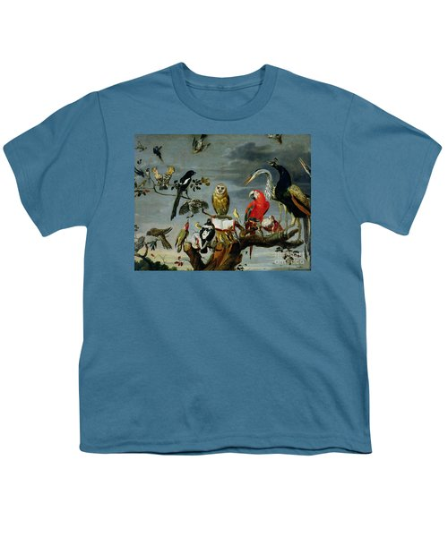 Concert Of Birds Youth T-Shirt by Frans Snijders