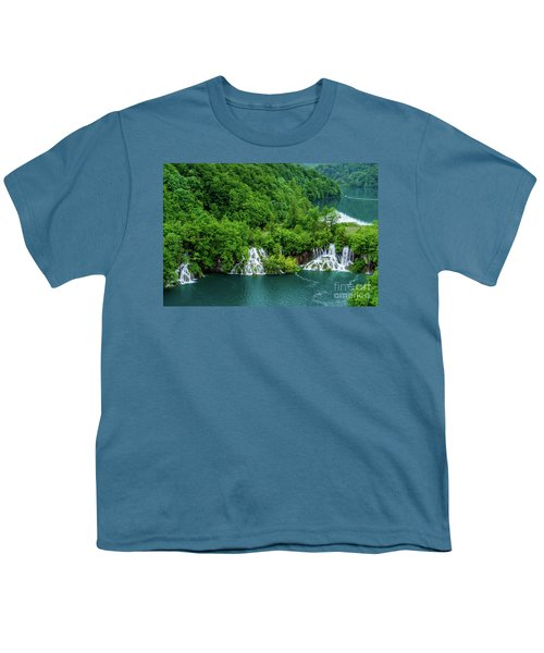 Connected By Waterfalls - Plitvice Lakes National Park, Croatia Youth T-Shirt