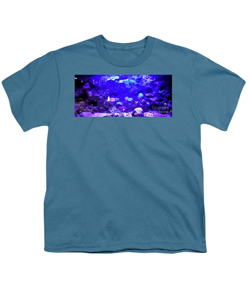 Youth T-Shirt featuring the digital art Coral Art 2 by Francesca Mackenney