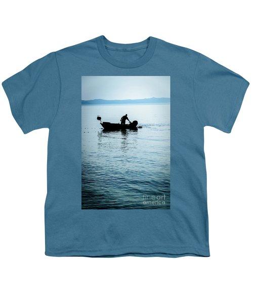 Dalmatian Coast Fisherman Silhouette, Croatia Youth T-Shirt
